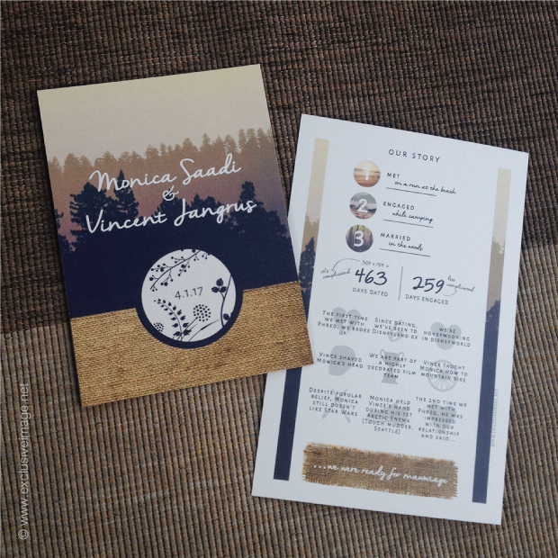 Monica and Vincent invitation front