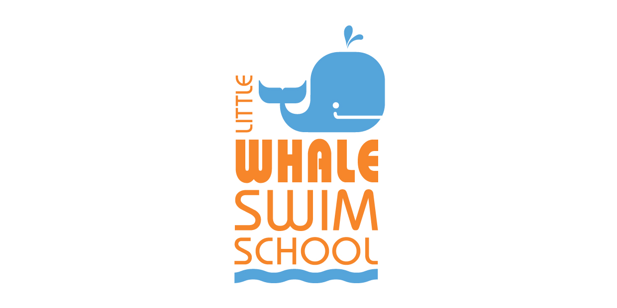 Little Whale swim school logo example