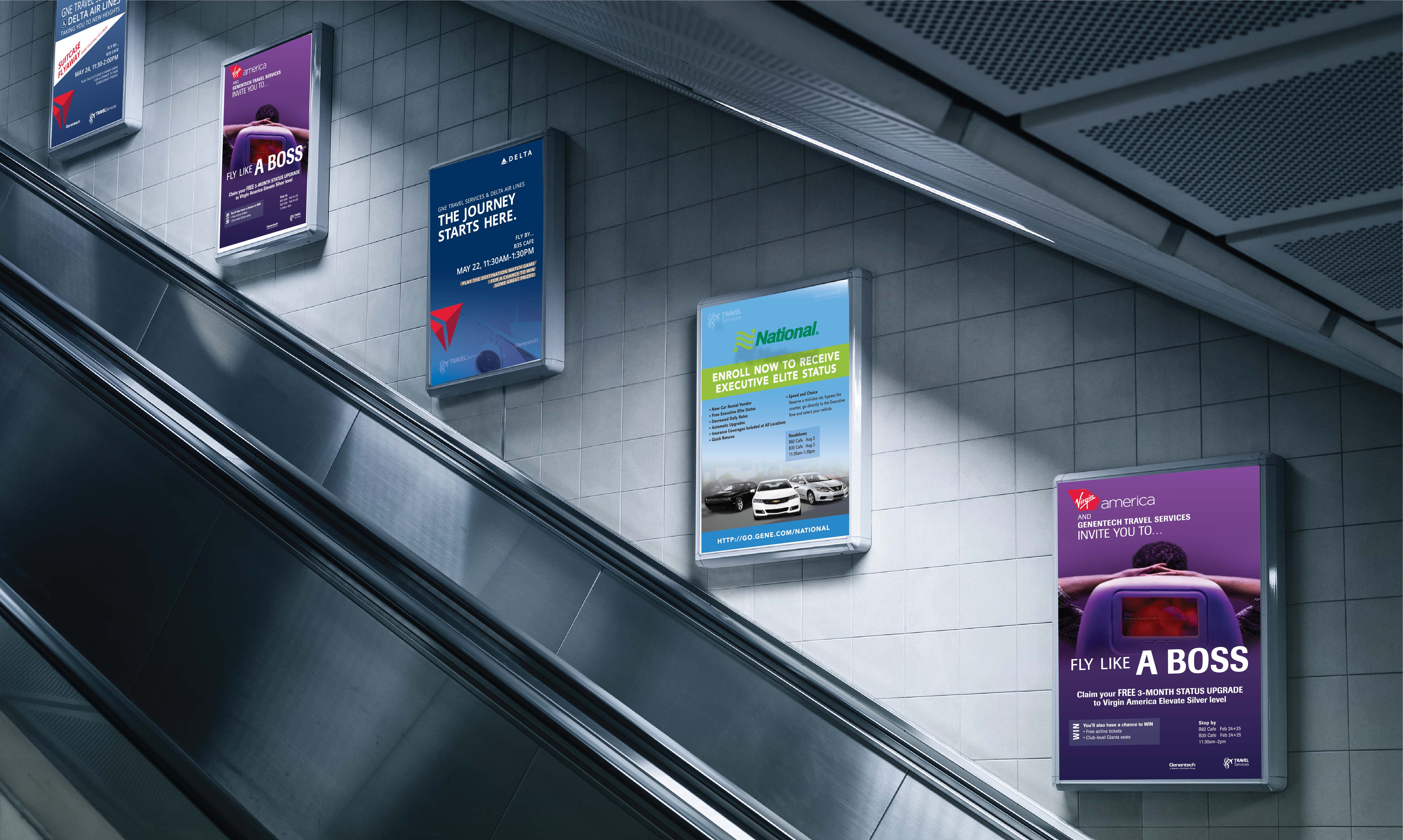 Poster examples in subway