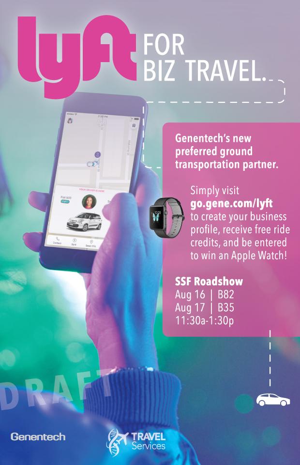 Lyft poster for Genentech partnership