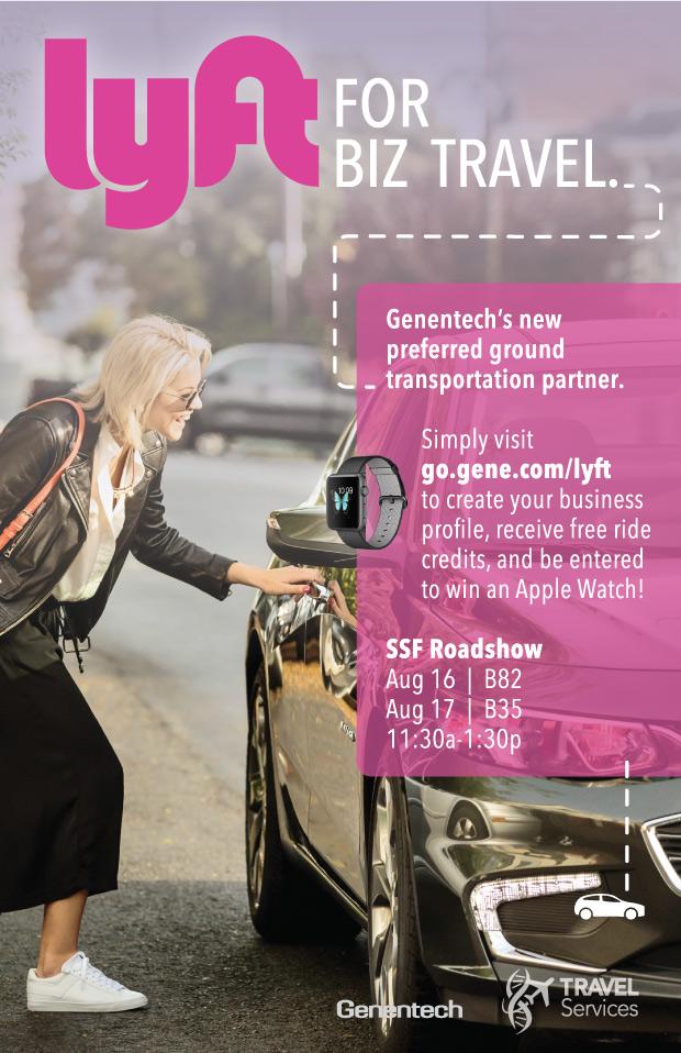 Genentech and Lyft Business poster