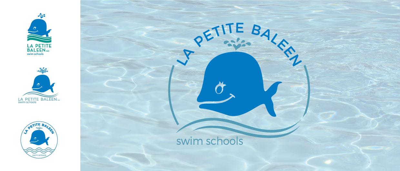 La Petite Baleen Logo examples over pool