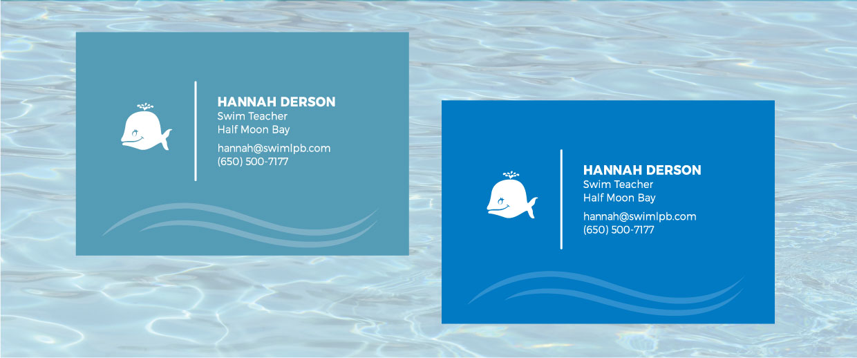 La Petite Baleen business cards