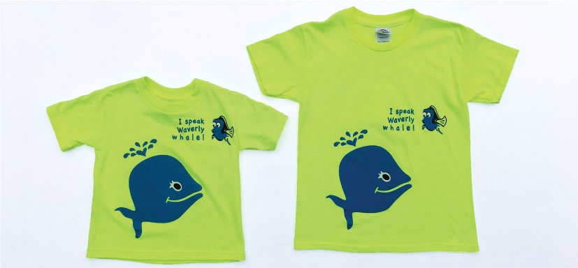 La Petite Baleen summer camp shirt