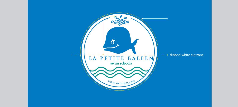 La Petite Baleen logo example