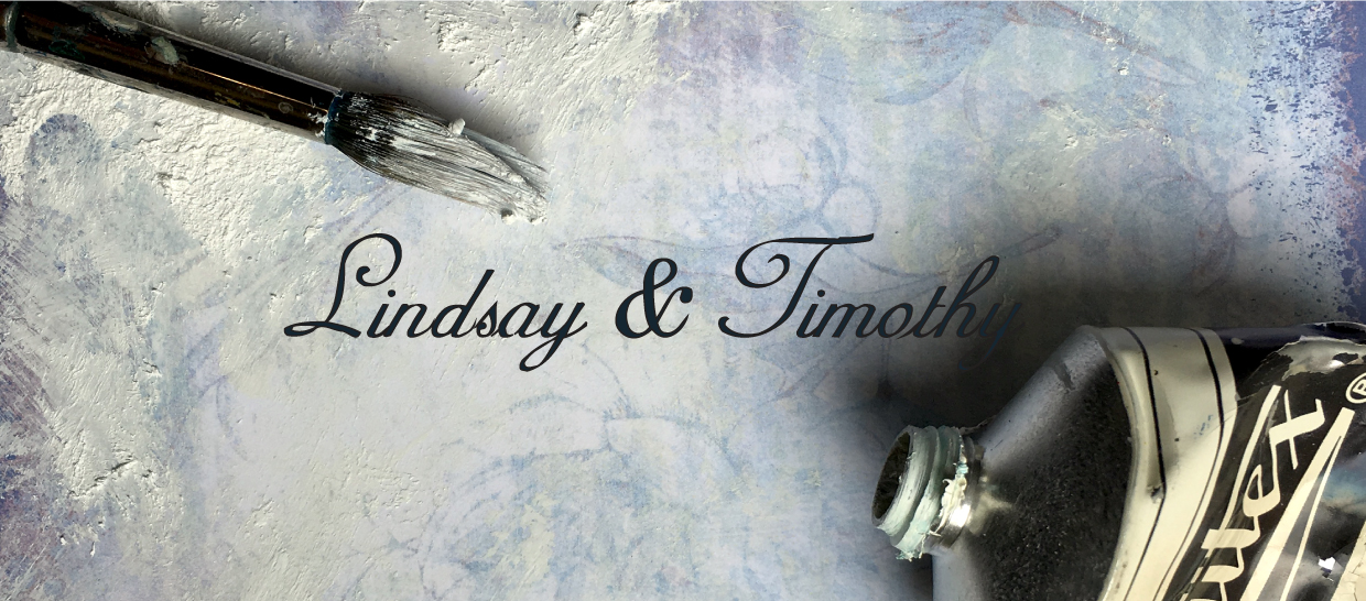 Lindsay and Timothy over paint