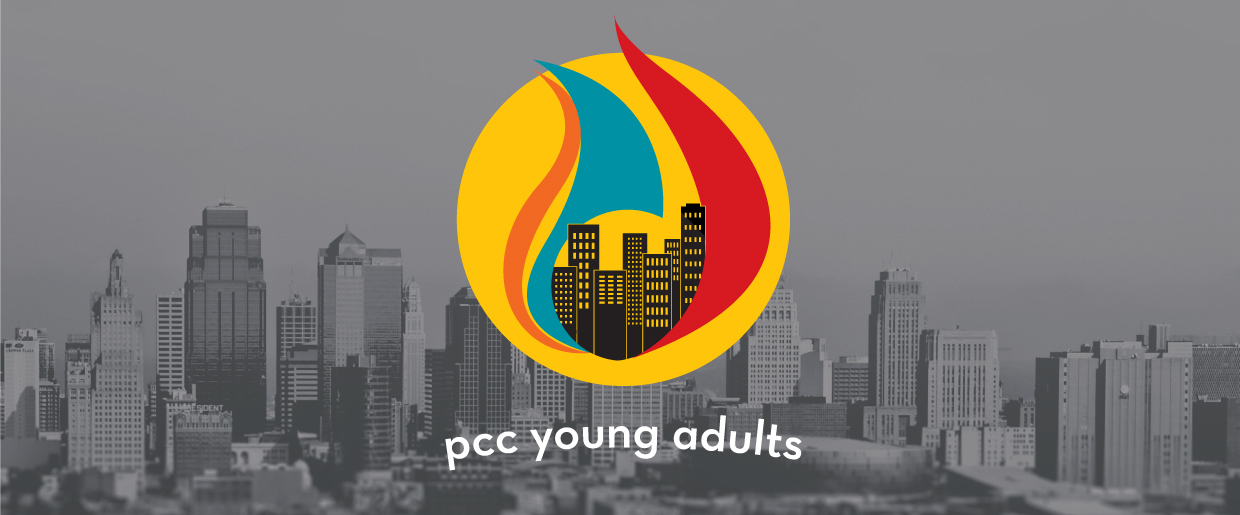 PCC Young Adult logo over image of redwood city