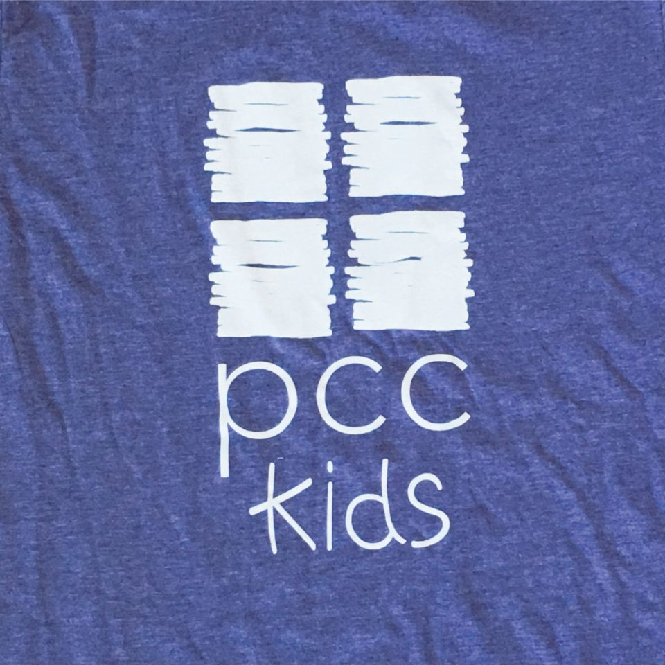 PCC Kids logo on t-shirt
