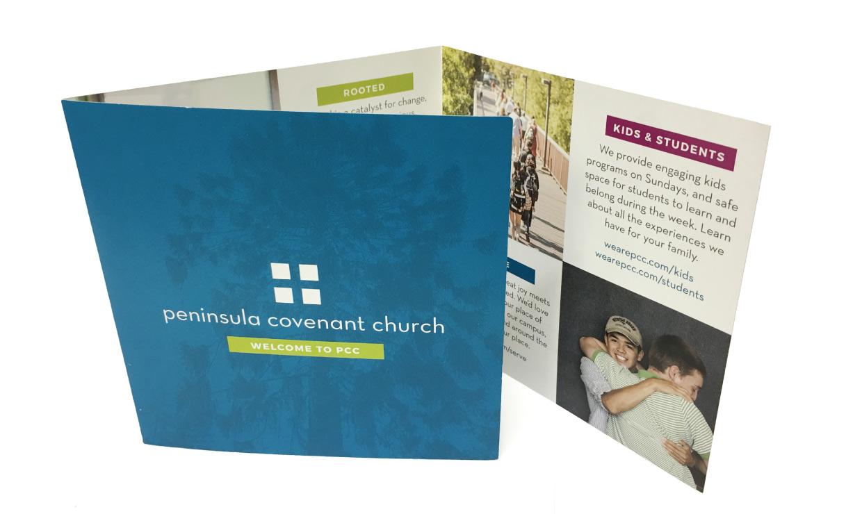 Peninsula Covenant Church Flyer Outside