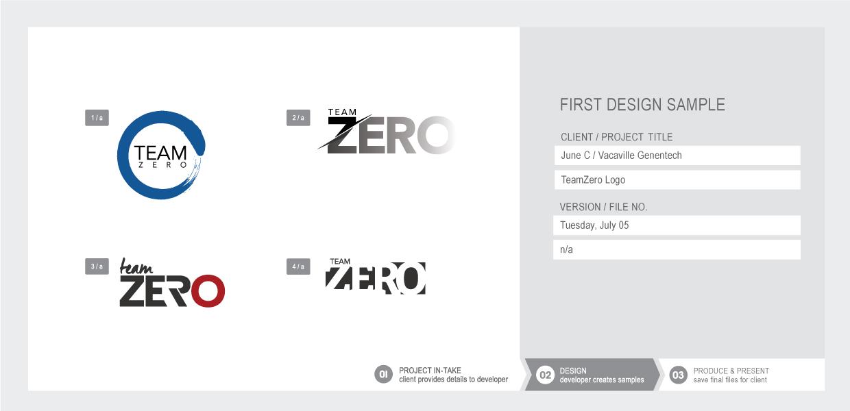 Team Zero logo examples
