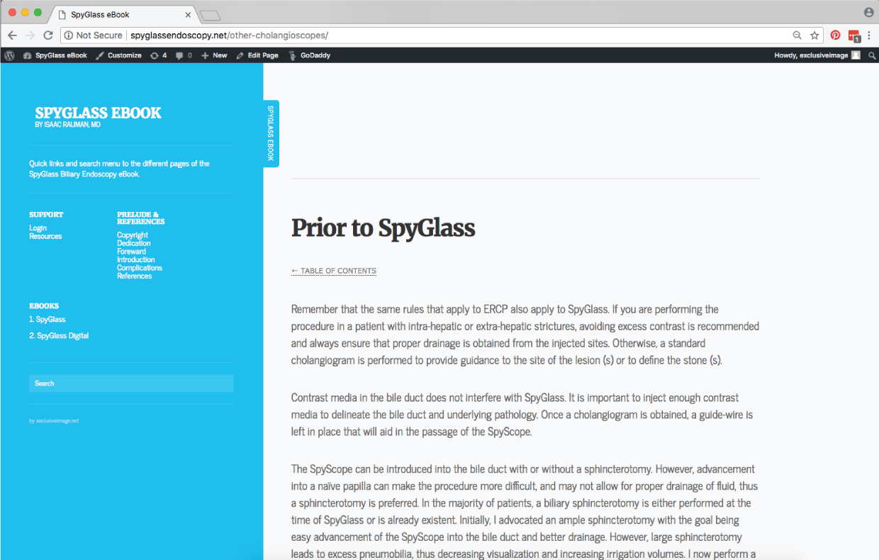 Website example of spy glass
