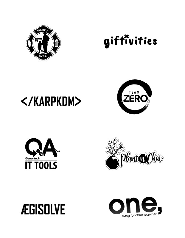 various logos in black
