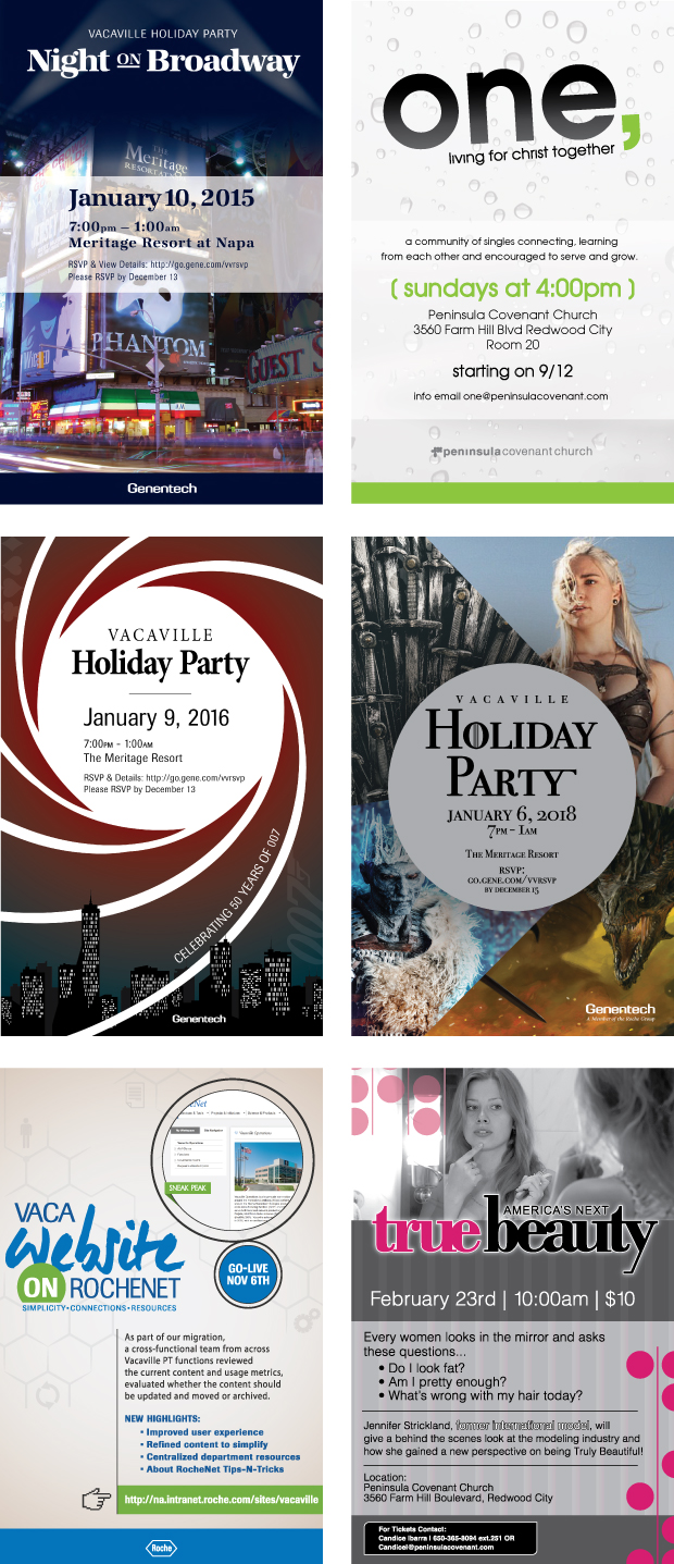 Invitation examples and holiday party flyers