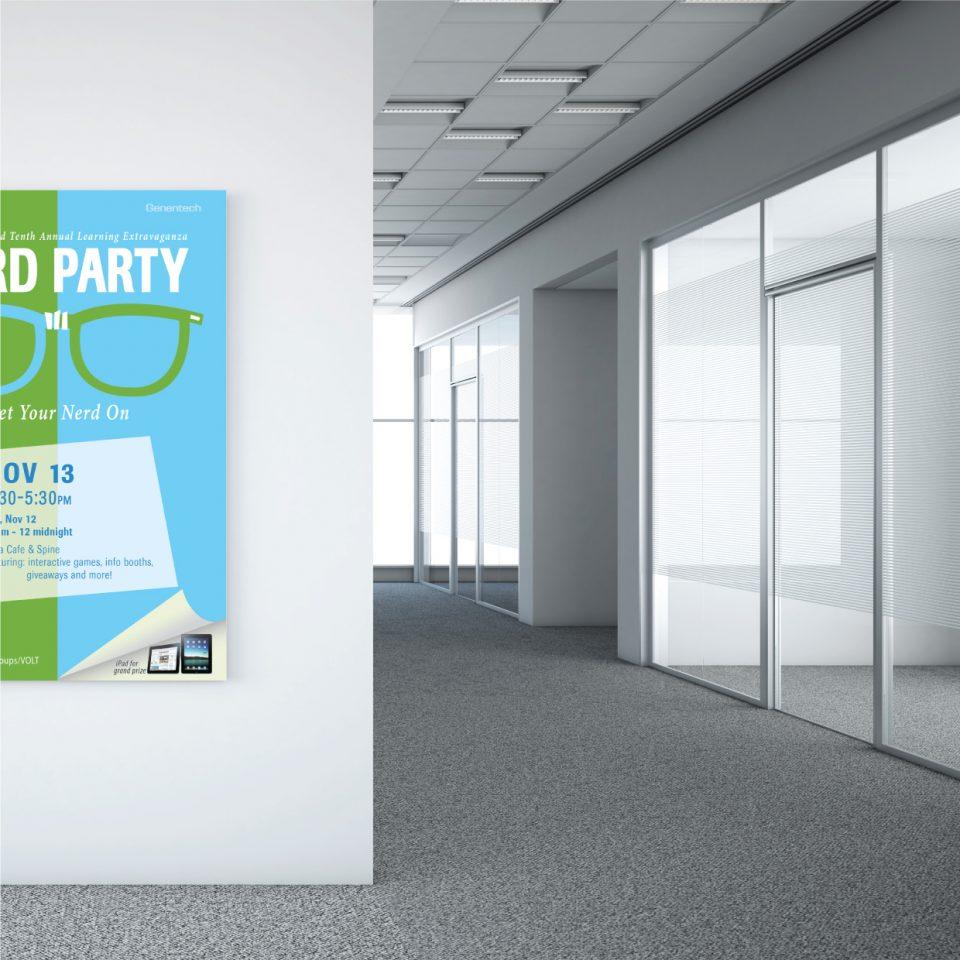 genentech posters in hallway