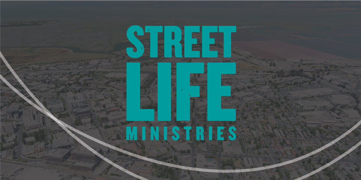 Street Life Ministries logo over map of redwood city