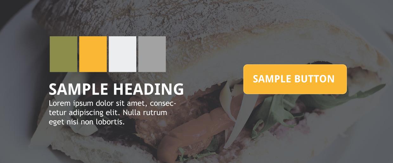 sample of website branding amoura